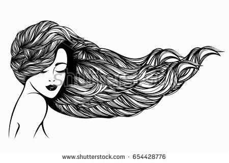 Flowing Hair Vector