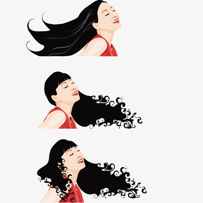 650x651 Flowing Hair, Hair Vector, Black, Hair Png And Vector For Free