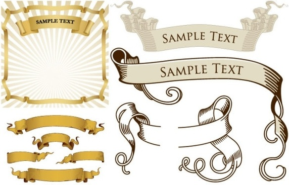 572x368 Flowing Ribbon Banner Free Vector Download (14,747 Free Vector