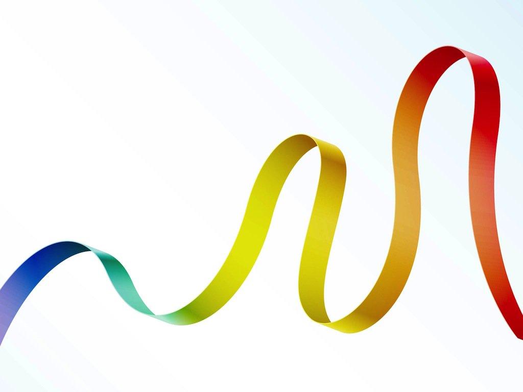 1024x768 Rainbow Ribbon Vector Art Amp Graphics