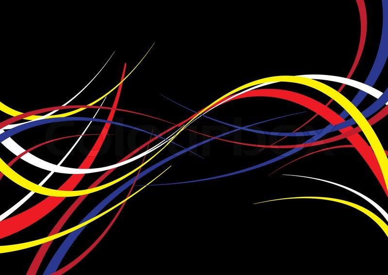 800x569 Abstract Background With A Flowing Ribbon Theme On Black Stock