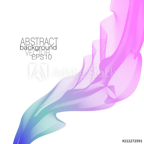 500x500 Waving Design Element, Pink, Teal, Violet Gradient. Abstract