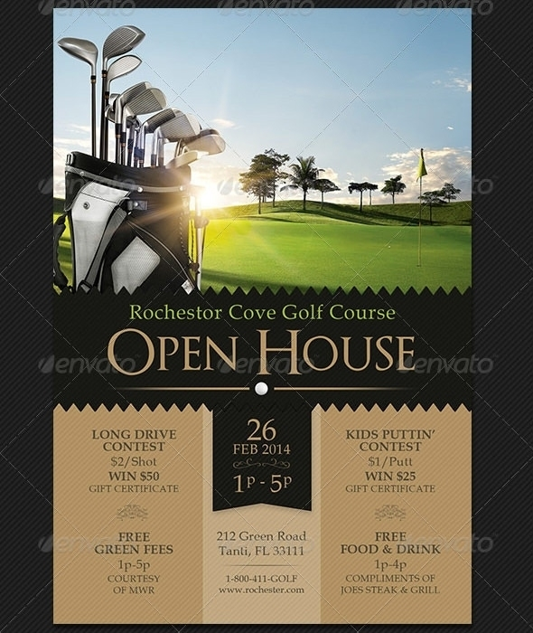590x700 Free Golf Flyer Template Word Golf Tournament Flyer Vector Free