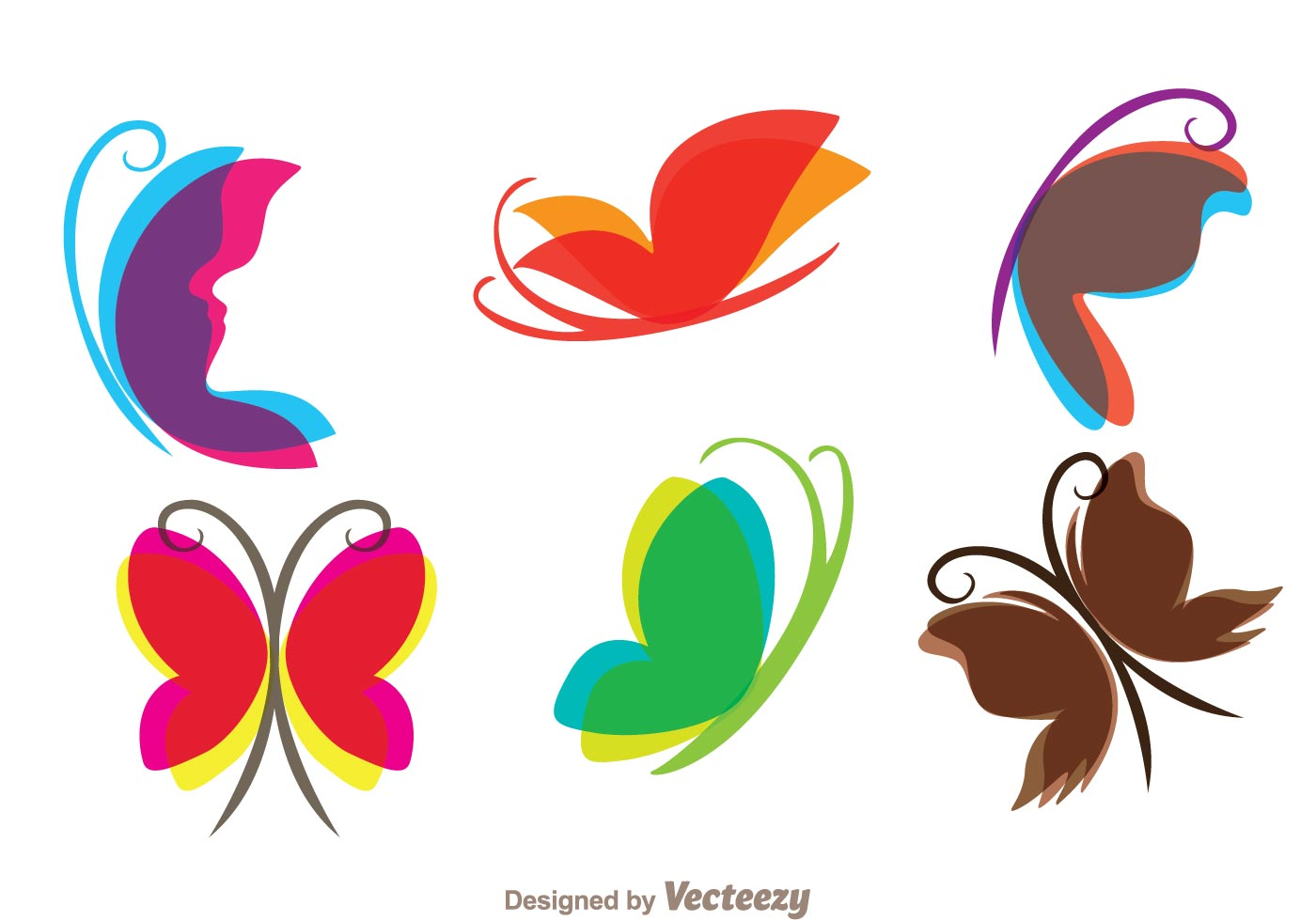 1400x980 Flying Butterfly Free Vector Art