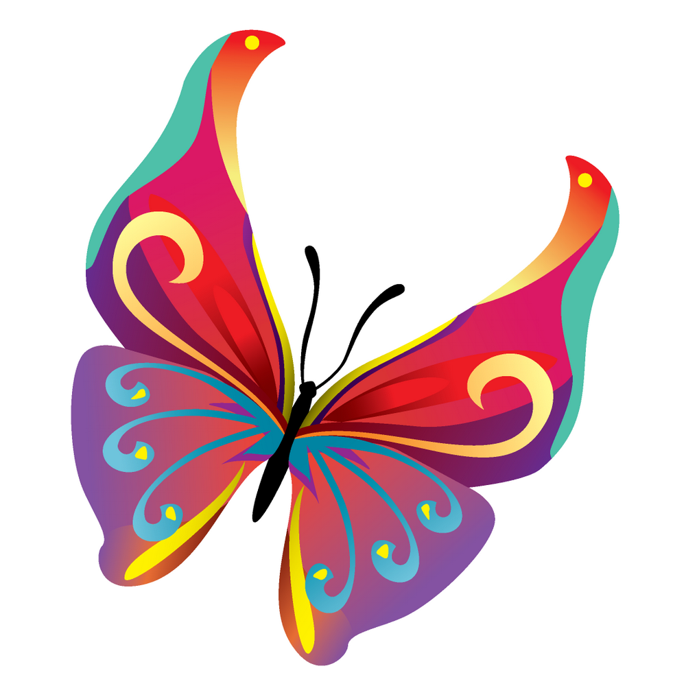 1000x1000 Flying Butterfly Vector Png 3 Png Image