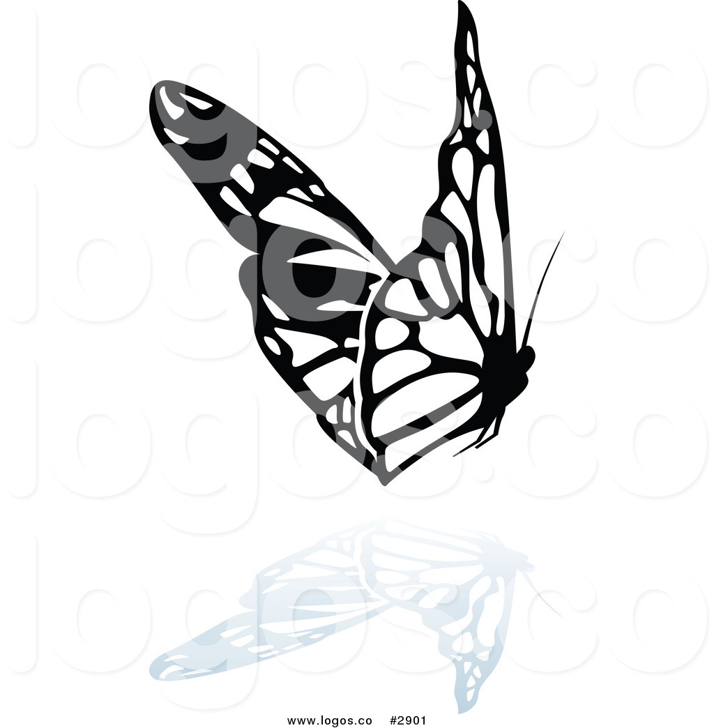 1024x1044 Royalty Free Flying Butterfly Vector Clipart Logo By Dero