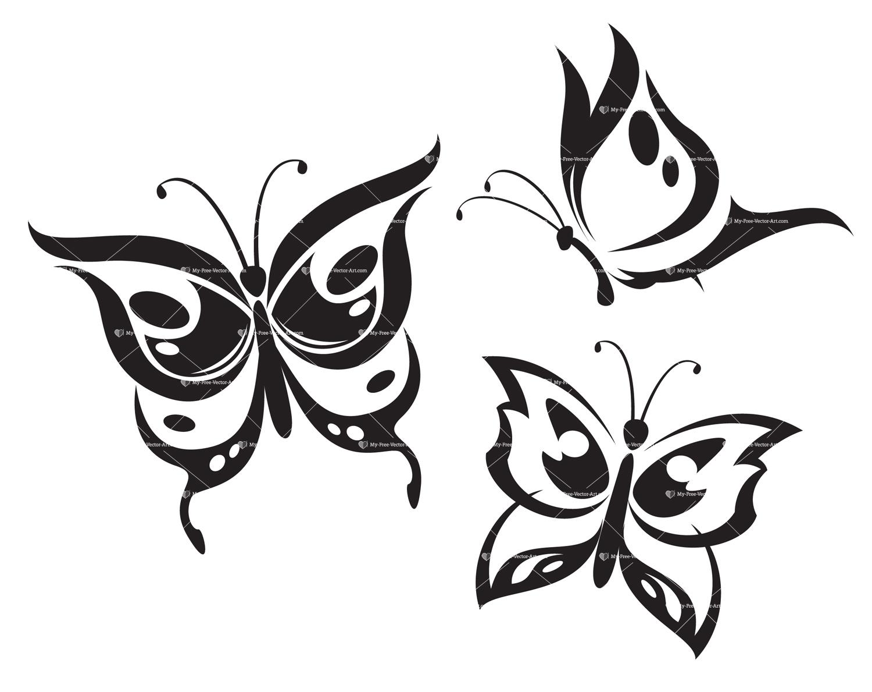 1500x1189 Stylized Vector Butterflies Vector Illustrations Of Butterflies