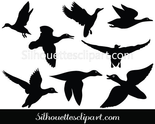 500x400 Flying Duck Silhouette Flying Duck Clipart Clip Art Of Duck Flying