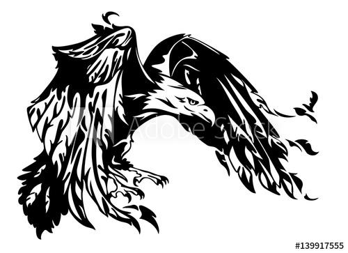 500x363 Flying Eagle Vector Illustration