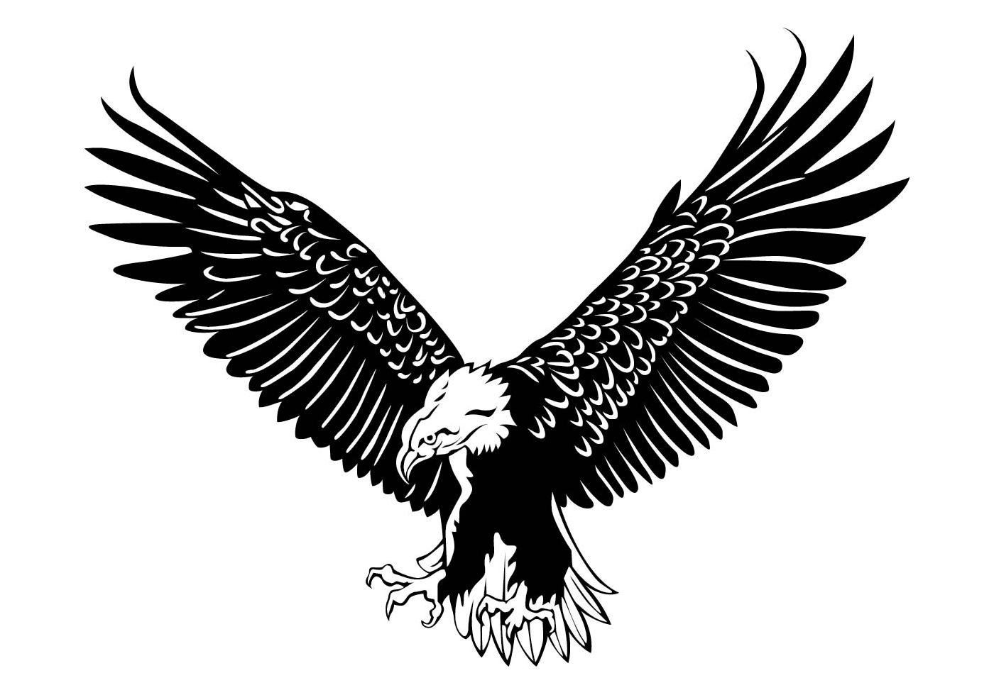 1400x980 Eagle Logo Free Vector Art