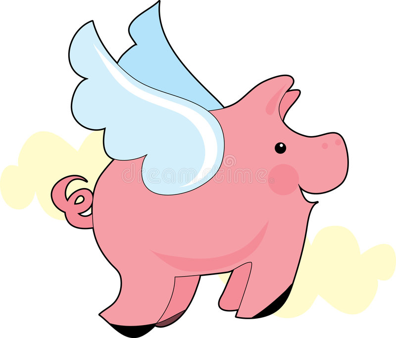 Flying Pig Vector