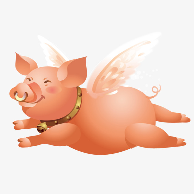 650x651 Happy Little Flying Pig, Pig Vector, Flying Pig, Animal Png And
