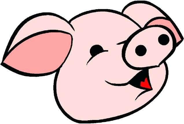 636x429 Pig Clip Art Free Flying Pig Smile Flying Pig Stock Vector Image