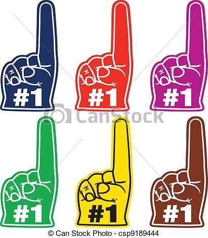 411x470 Number One Foam Finger. Go Team Go! Number One Foam Hand Set.