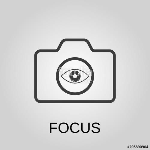 500x500 Focus Icon. Focus Symbol. Flat Design. Stock