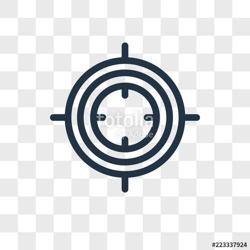 500x500 Focus Vector Icon Isolated On Transparent Background, Focus Logo
