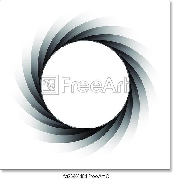 561x581 Free Art Print Of Vector Aperture
