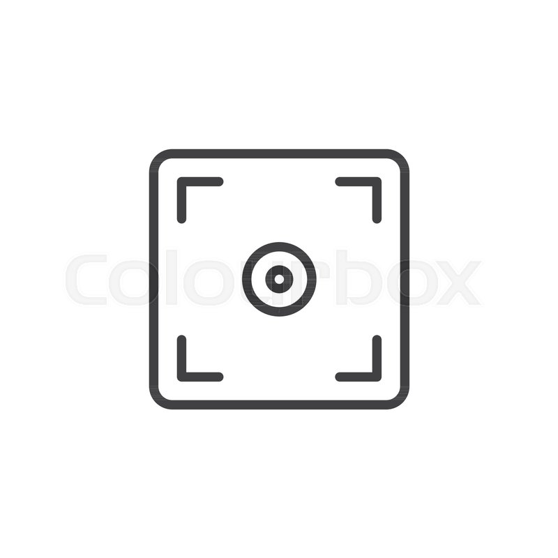 800x800 Photo Camera Focus Outline Icon. Linear Style Sign For Mobile
