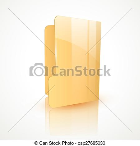 450x470 Folder Icon Design. Empty Folder Vector Icon Design.