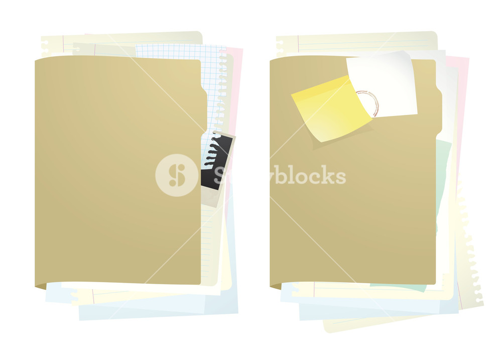 1000x707 Documents Folder. Vector Illustration. Royalty Free Stock Image