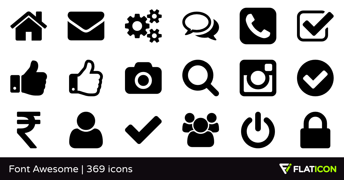 1200x630 365 Free Vector Icons Of Font Awesome Designed By Dave Gandy