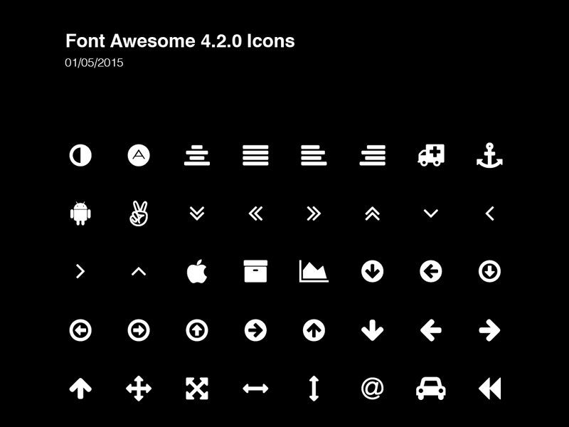 800x600 Font Awesome Icons By Greg Shuster
