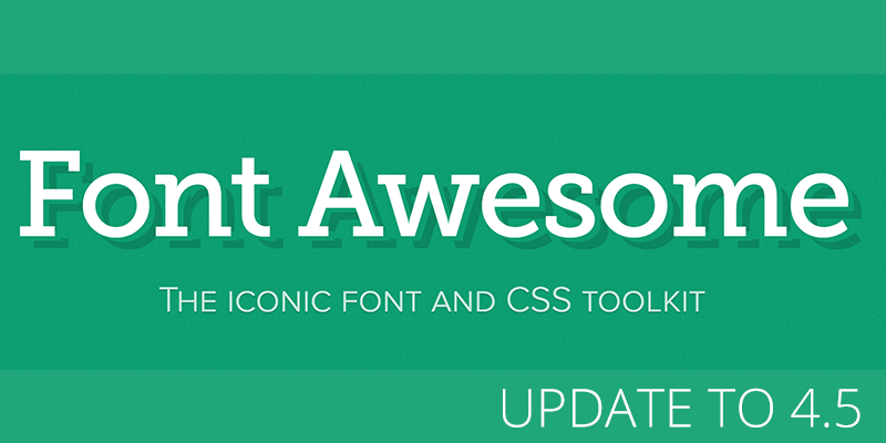800x400 Font Awesome Vector Font Library Updated To Version 4.5