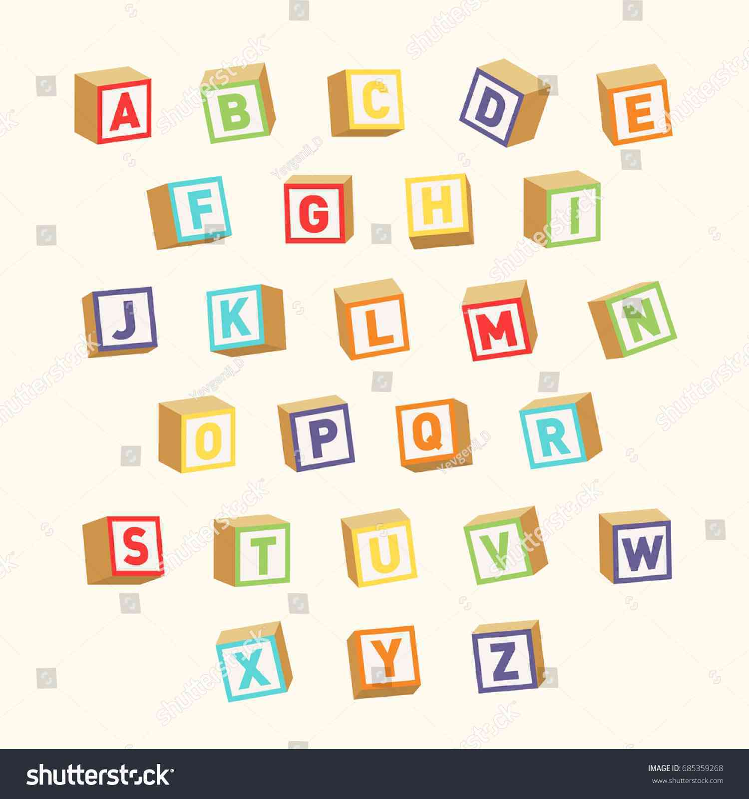 1500x1600 Square Block Letter Font Awesome Alphabet Colorful Toy Blocks