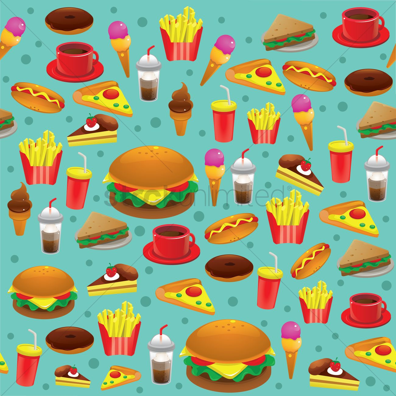 1300x1300 Food Background Vector Image