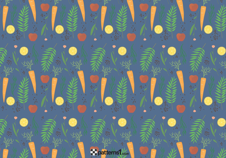 1500x1050 Fresh Vegetables Pattern Food Background Vector Pattern Design