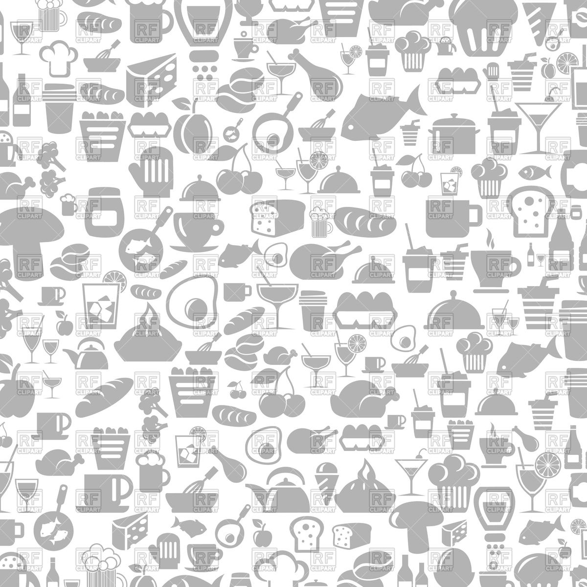 1200x1200 Background With Meal Icons Vector Image Vector Artwork Of Food