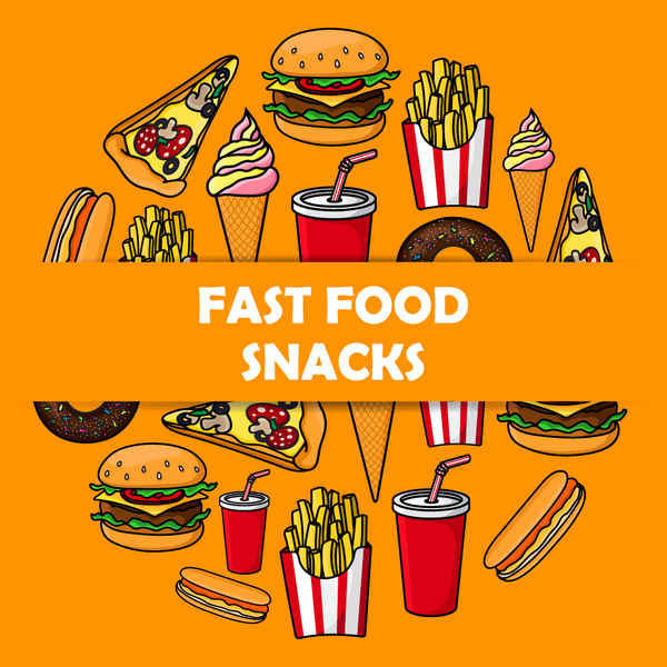 600x600 Creative Fast Food Background Vector Design 07 Free Download