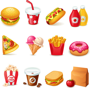 374x368 Fast Food Icons Vector Free Vector Download (27,511 Free Vector