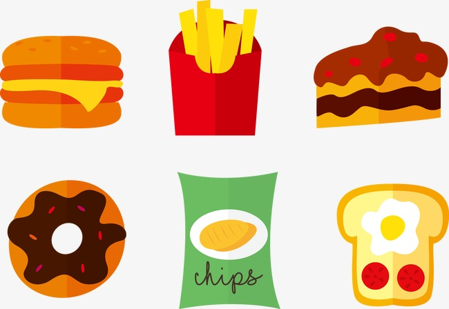 650x448 Flat Fast Food Icon, Food Vector, Icon Vector, Vector Png And