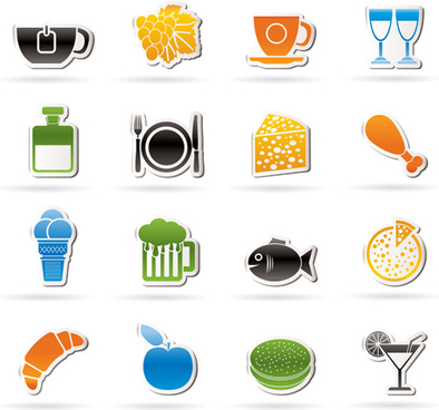 394x368 Food Icon Vector Free Vector Download (27,287 Free Vector) For