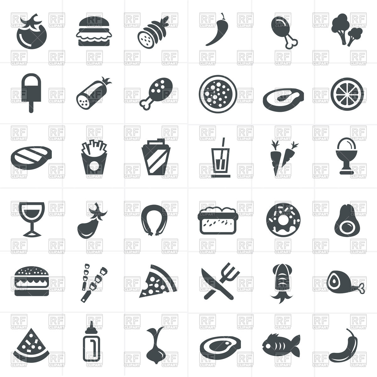 1200x1200 Food Icons