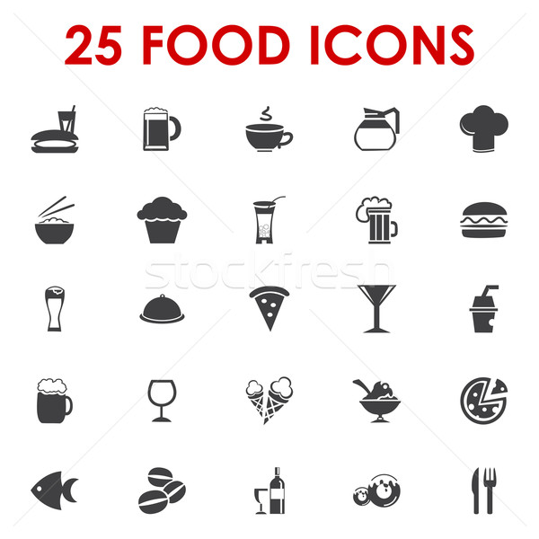 600x600 Food Icons Basics Series Vector Vector Illustration Etty Ozer