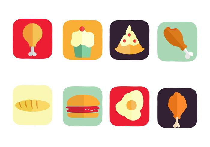 700x490 Free American Food Icons Vector