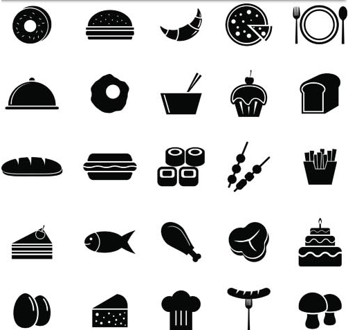 503x477 Silhouettes Fastfood Icons Vector Ai Format Free Vector Download