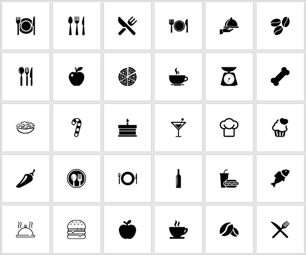 600x500 Food Icons