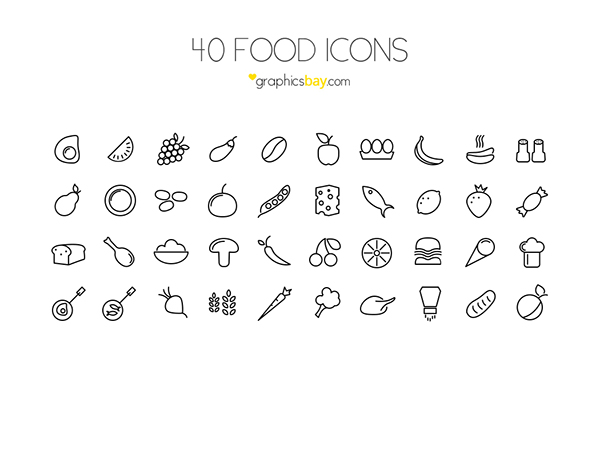 600x453 40 Free Food Vector Icons On Behance