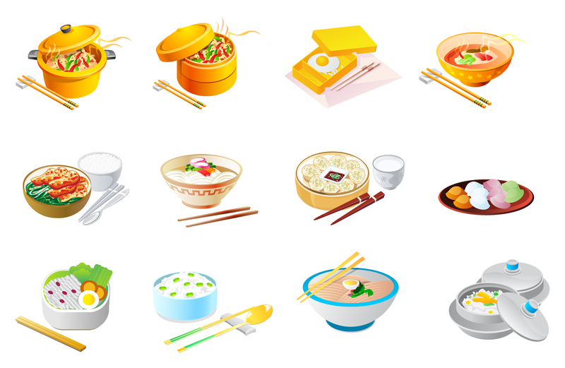 800x521 Chinese Food Icon Vector