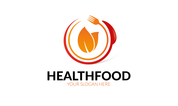 600x360 Health Food Logo Vector Free Download