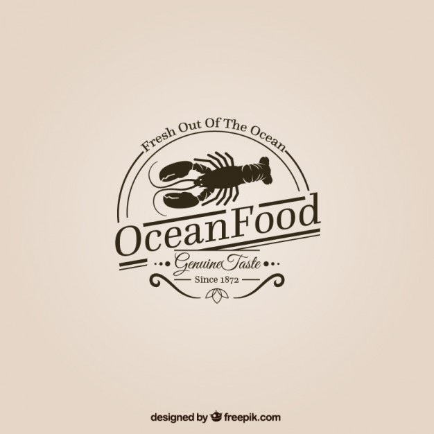 626x626 Ocean Food Logo Vector Free Download
