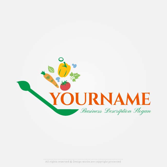 650x650 Online Vector Healthy Food Logo Free Logo Design Maker
