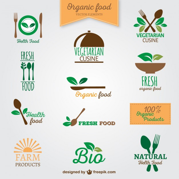 626x626 Organic Food Logos Vector Free Download