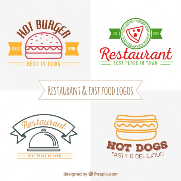 626x626 Restaurant And Fast Food Logos Vector Free Download