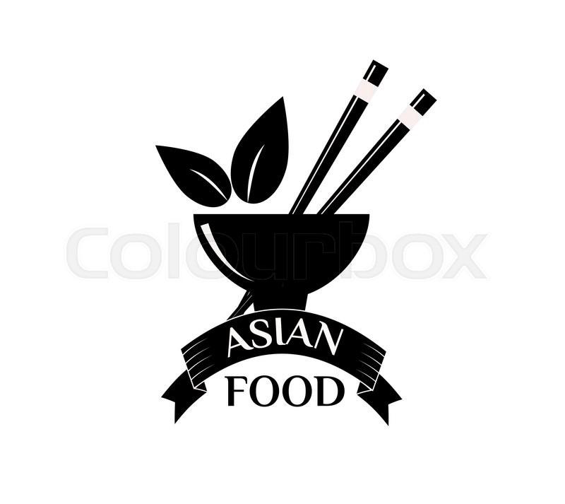 800x713 Asian Food Logo Vector Illustration. Asian Food Logo Isolated On