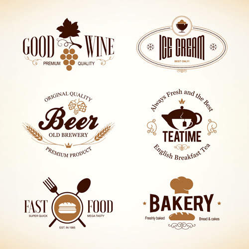 500x500 Restaurant Food Menu Logos Vector Design 02 Free Download