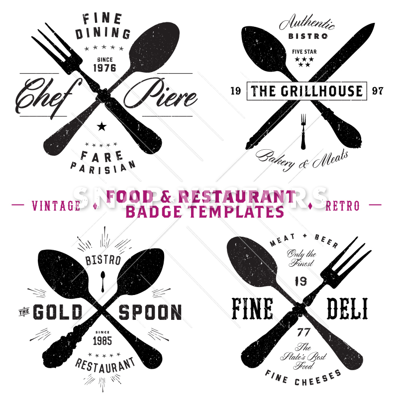 800x800 Vector Restaurant And Food Logo And Badge Templates